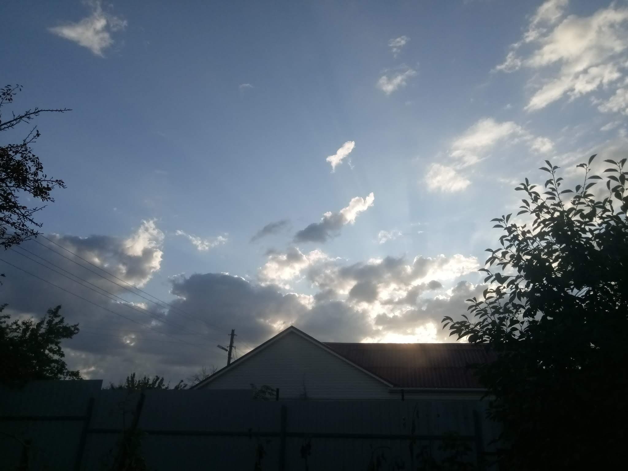 Autumn sky photos