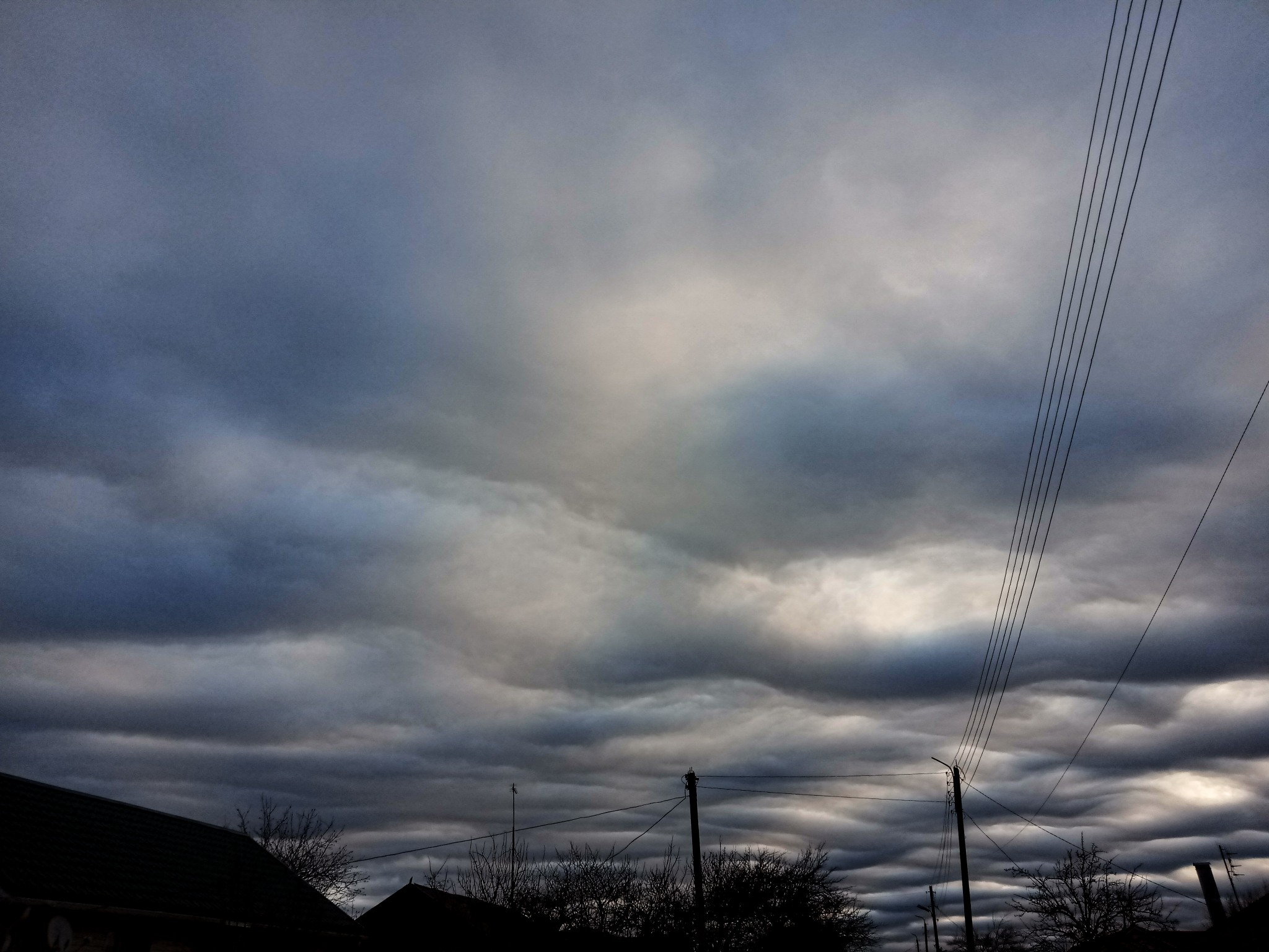Beautiful abnormal sky in Russia photo