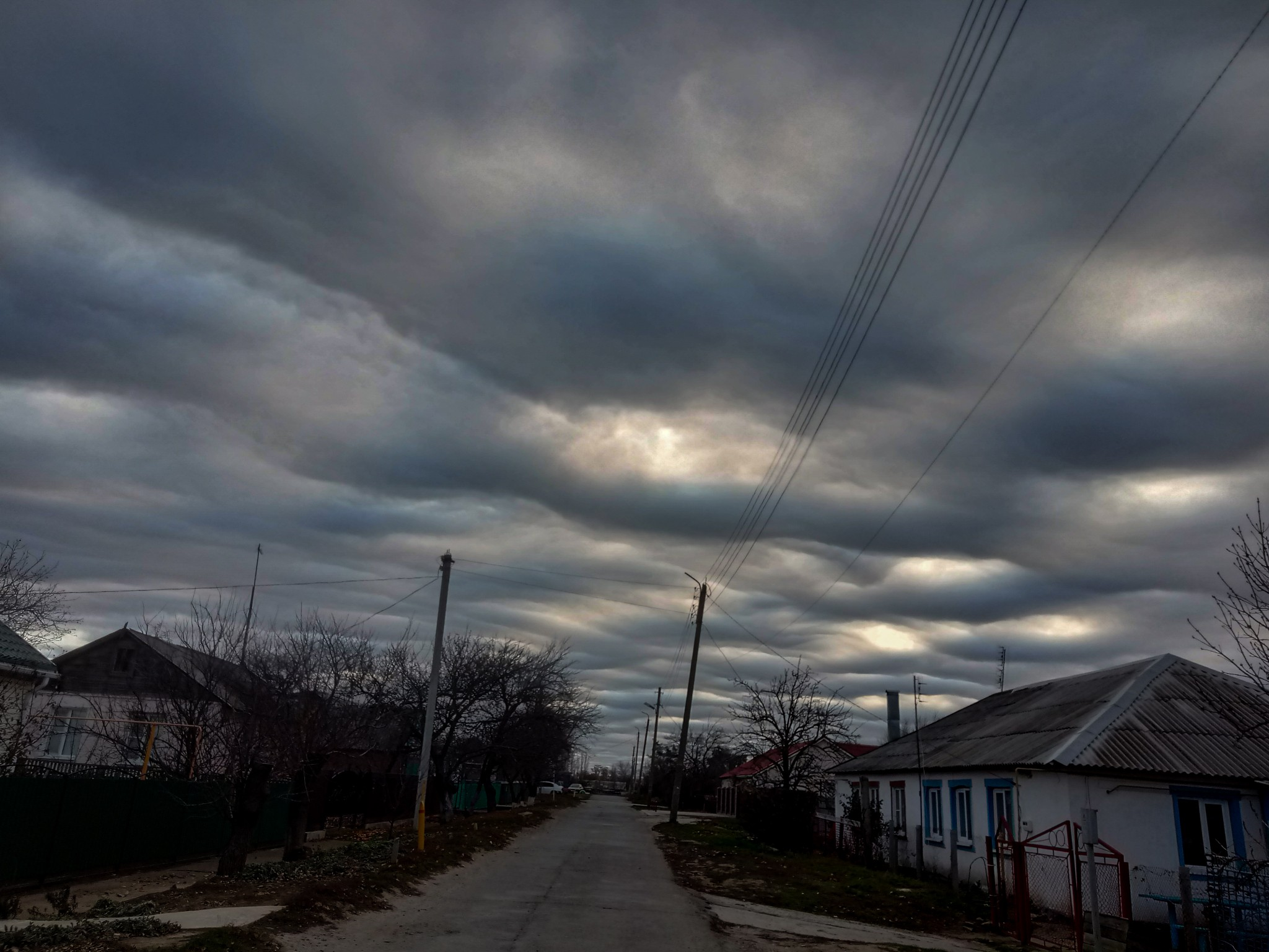 Beautiful abnormal sky in Russia photo